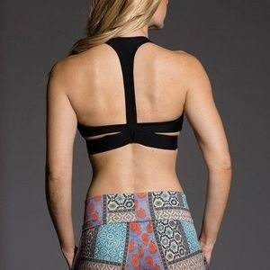 Onzie Hot Yoga Wrap Sports Bra 3600 Black